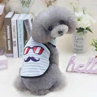🚚 【預購】眼鏡鬍子 狗狗衣服夏裝薄款寵物衣服春夏季泰迪衣服春裝貓咪背心