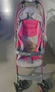 Combi pink stroller pram light weight 7kg. Birth up to 18kg