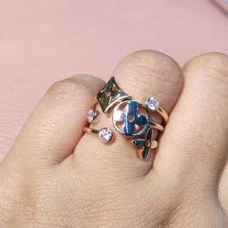 18K LV Diamond Ring