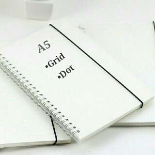 Japanese Style A5 Dotted and Grid Notebook