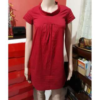 BNWT Red ladies dress / long blouse
