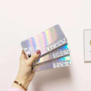 PO: 📱Holographic Card With Transparent Lucky Baby Fk Phone Case