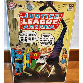 Justice League of America #73 (1969) Silver Age Comic FN++/VF-