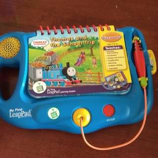 Leap Frog thomas n friend leappad ( comes with 2 sided of book)