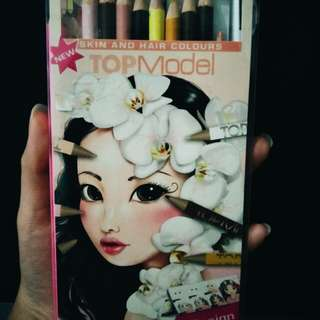 Pensil Warna Topmodel Skin & hair color (color pencil)