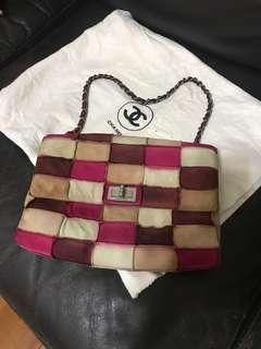 Authentic Chanel suede multicolour bag
