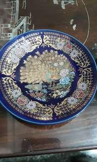 vintage Japanese cobalt blue twin & singel peacock