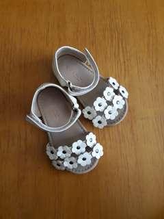 White Flowery Sandals