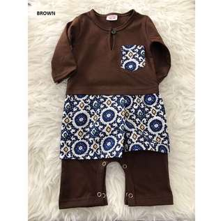 Romper Baju Melayu (Brown)
