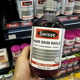 [現貨]澳洲Swisse Hair Skin Nails膠原蛋白液500m l