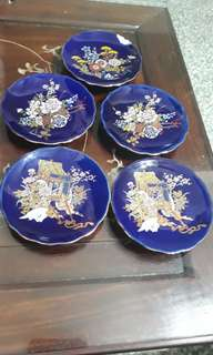 vintage Japanese cobalt blue /sold as individual each $ 58