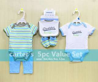 Carters Baby BOYS 5-Piece Clothes Value Set