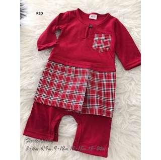 Baju Melayu Rompers (Red)