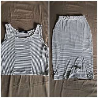 F&H Crop Top and Skirt (Bodycon)