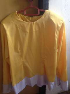 Yellow and white blouse