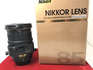 Nikon PC-E 85mm F2.8D Micro (MF)