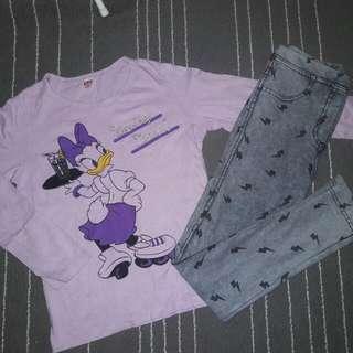 Girl Set ZARA jeans + UNIQLO Tshirt