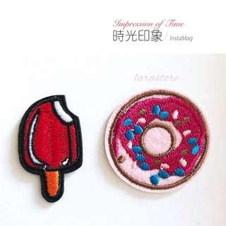 Bn iron on patch/doughnut/ice cream iron on patch