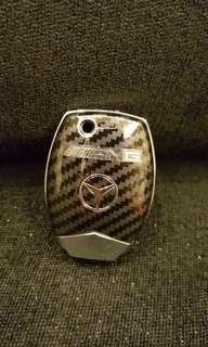 BENZ賓士鑰匙保護套 碳纖維鑰匙殼AMG式樣
