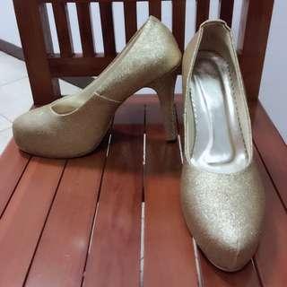 Glitter shoes (sepatu glitter) gold