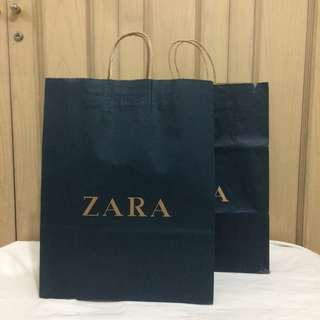 PAPERBAG AUTHENTIC PAPERBAG BRANDED PAPERBAG ZARA