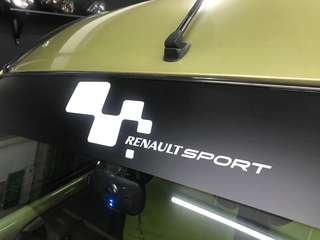 Renault sports sunshade sticker