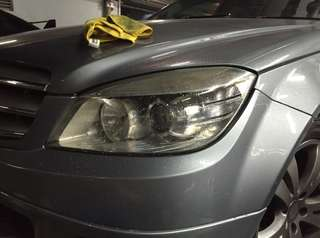 Mercedes headlamp tint