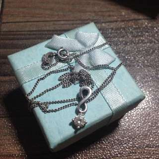 Silver Infinity necklace 92.5