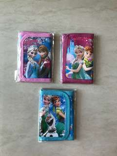 $1 Wallet for Girls - Minnie Mouse, Frozen, Sofia