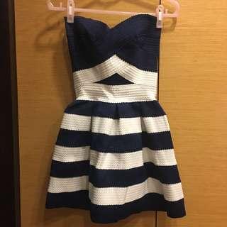 🚚 性感條紋繃帶洋裝