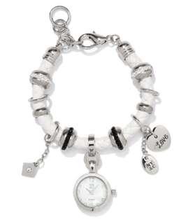Corded Watch Charm Bracelet