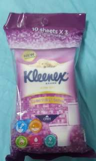 Kleenex ultra soft wet wipes (pack of 3)