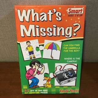 Smart Education Puzzle Pairs What's Missing