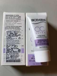 Biotherm CC霜 碧兒泉 5ml*2 含運 5ml兩組合賣