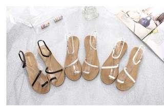 韓版平底舒適涼鞋