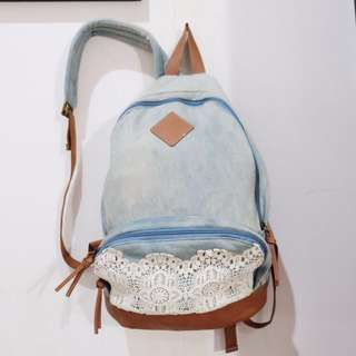 BACKPACK/TAS CLAIRE'S WITH LACE - ORIGINAL