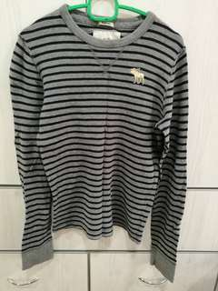 (S) Abercrombie Fitch stripes longsleeves