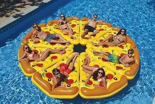 🍕薄餅水泡🍕 Pizza Inflatable Floating Bed • Pool Ring • Floaty