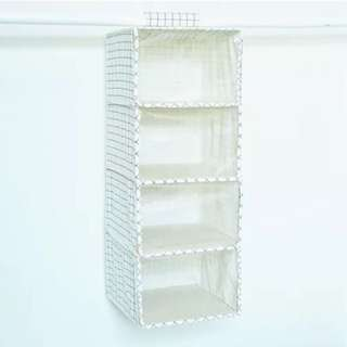 棉麻簡約  布藝透視 軟簾衣物收納袋 多格  簡約 立體 包包收納 衣櫥收納