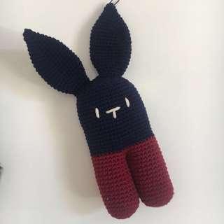 Crochet Baby Bunny Rattle