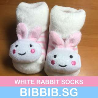 Baby Socks - White Rabbit Collection 1204