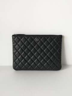 Authentic Chanel O Case SO BLACK
