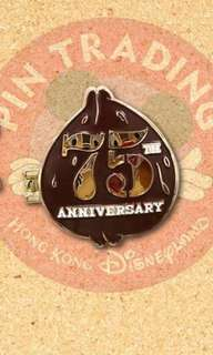 Chip and dale 75周年 迪士尼 襟章 徽章 Disney pin Disneyland pin