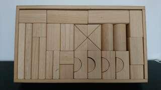 啟蒙 早教兒童益智玩具 木製幾何拼圖學習