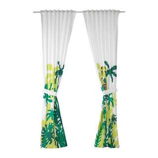 NEW! IKEA DJUNGELSKOG Children's Curtains