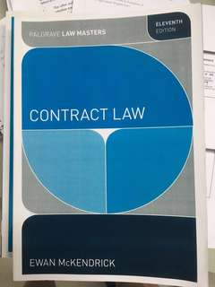 Contract Law Ewan Mckendrick