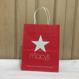 PAPERBAG AUTHENTIC PAPERBAG BRANDED PAPERBAG Macy's Departement Store