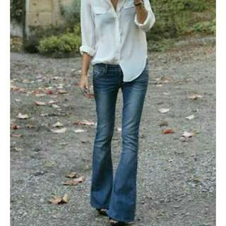 Levi's button fly flare jeans 557