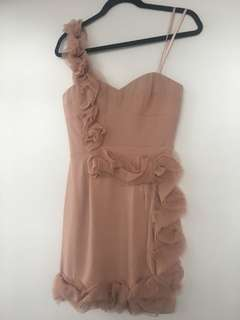 BCBG nude dress