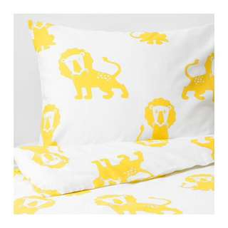 NEW! IKEA DJUNGELSKOG Quilt Cover & Pillowcase